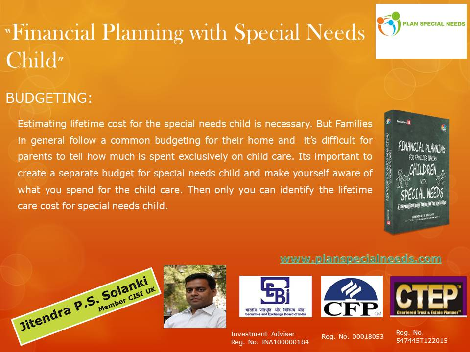Budgeting- Special Needs Planning