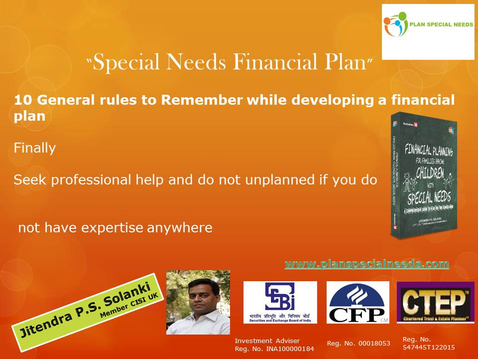 Special Needs Planning Final Rule